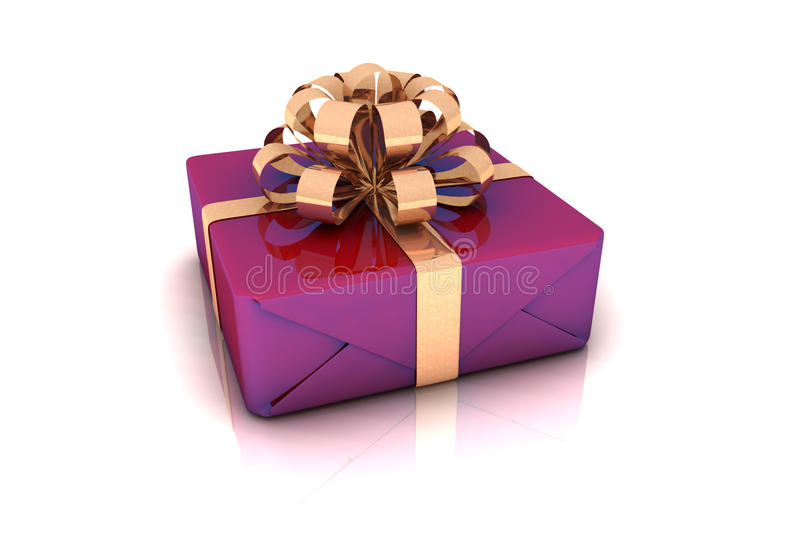 Download Purple Gift Box stock illustration. Illustration of surprise - 11907123