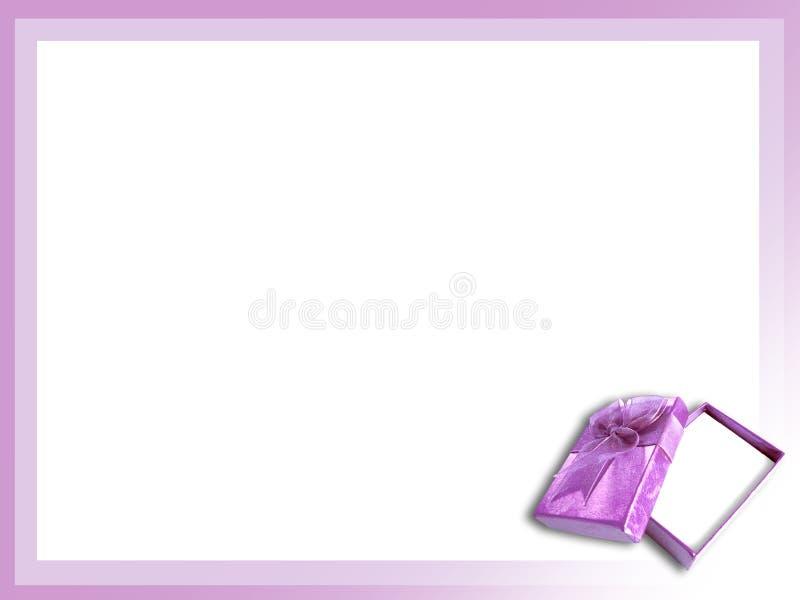 Purple gift box royalty free stock image