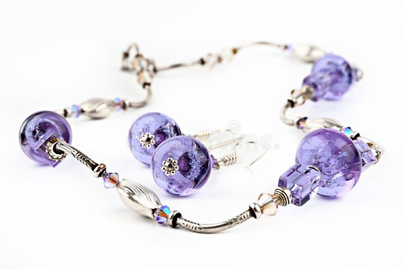 Purple Glass Beads Royalty Free Stock Photo