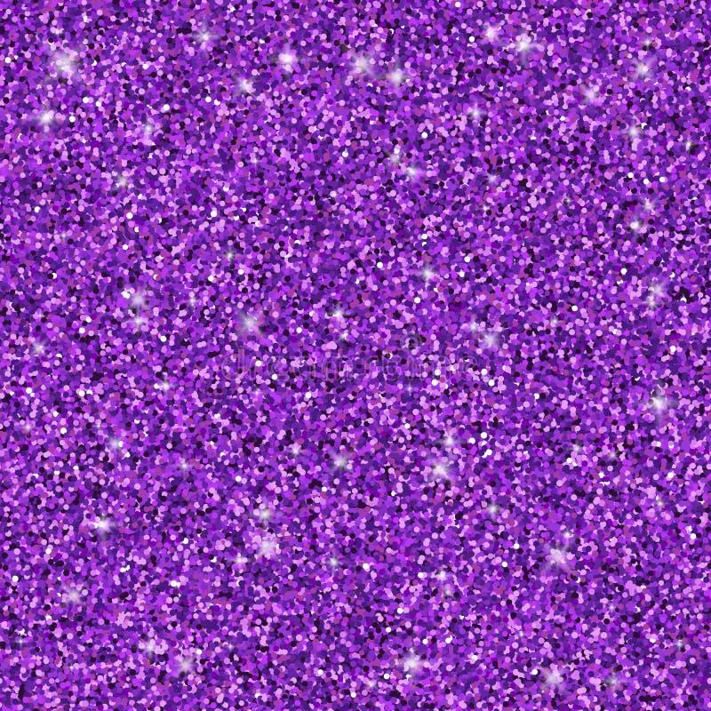 Purple glitter seamless pattern, vector texture stock illustration