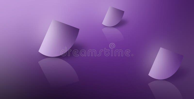 Purple Glossy Surrealism Dream Fantasy Reflections