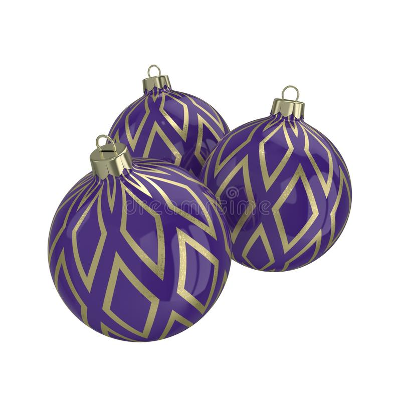 Purple Decorative Balls Fascinating Purple And Gold Decorative Christmas Ballsisolated New Year Inspiration Design