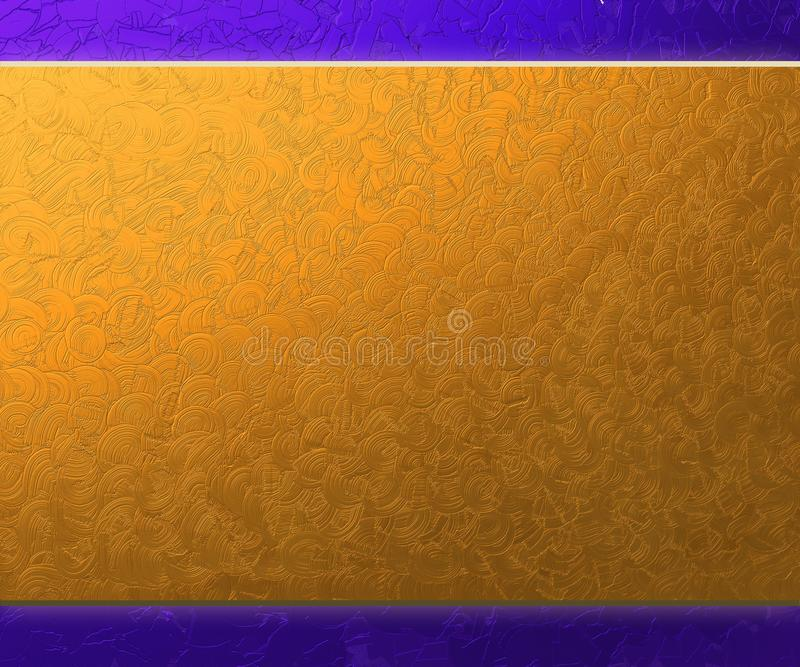 Purple and Gold Metal Background royalty free illustration