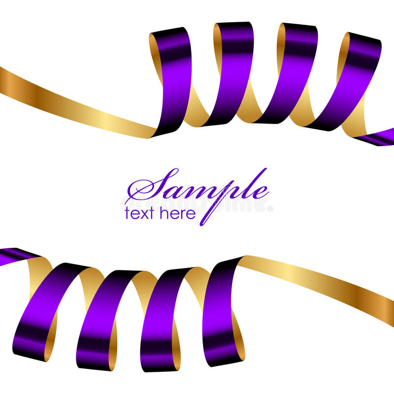 Download Purple And Gold Ribbon Frame Stock Vector - Image: 32445224