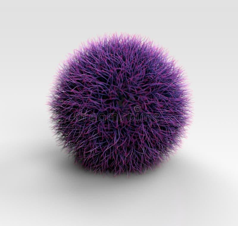 Purple Grass Ball stock images