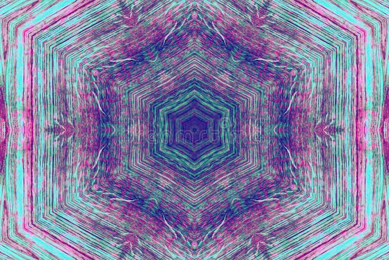 Multi colored kaleidoscope pattern. Purple, green, pink multi colored kaleidoscope pattern stock photos