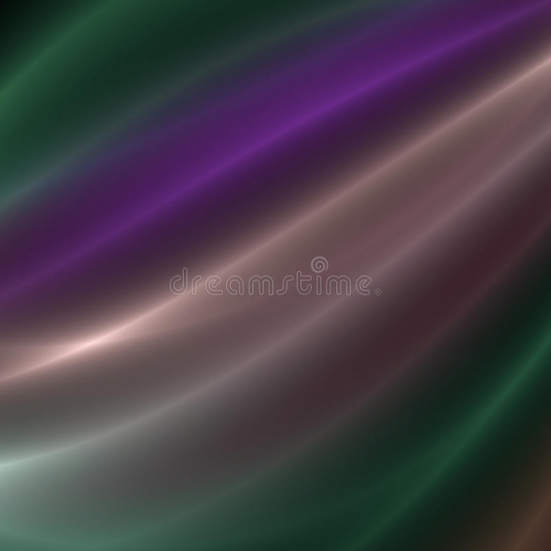 Purple and Green streaks of light. Purple and green flowing light streaks background royalty free illustration