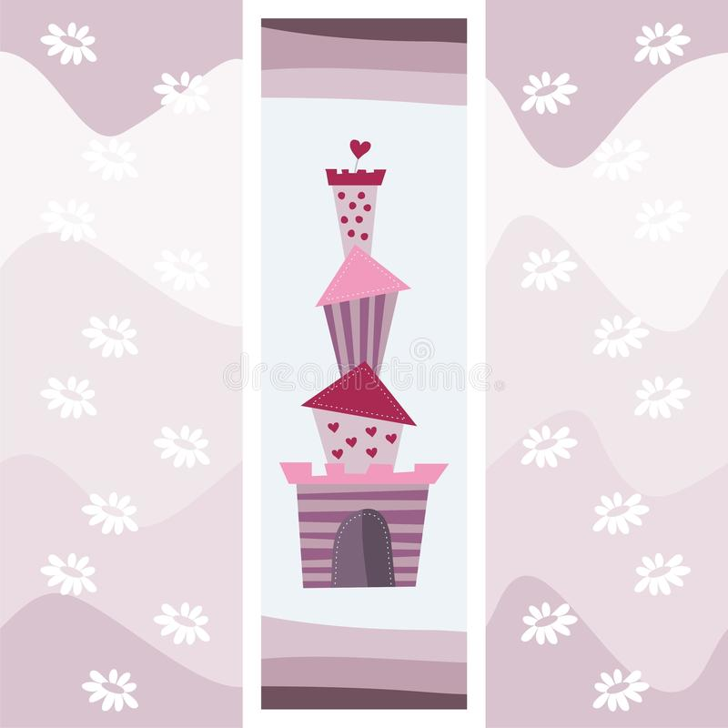 Download Purple greeting card stock vector. Image of palace, queen - 19029735