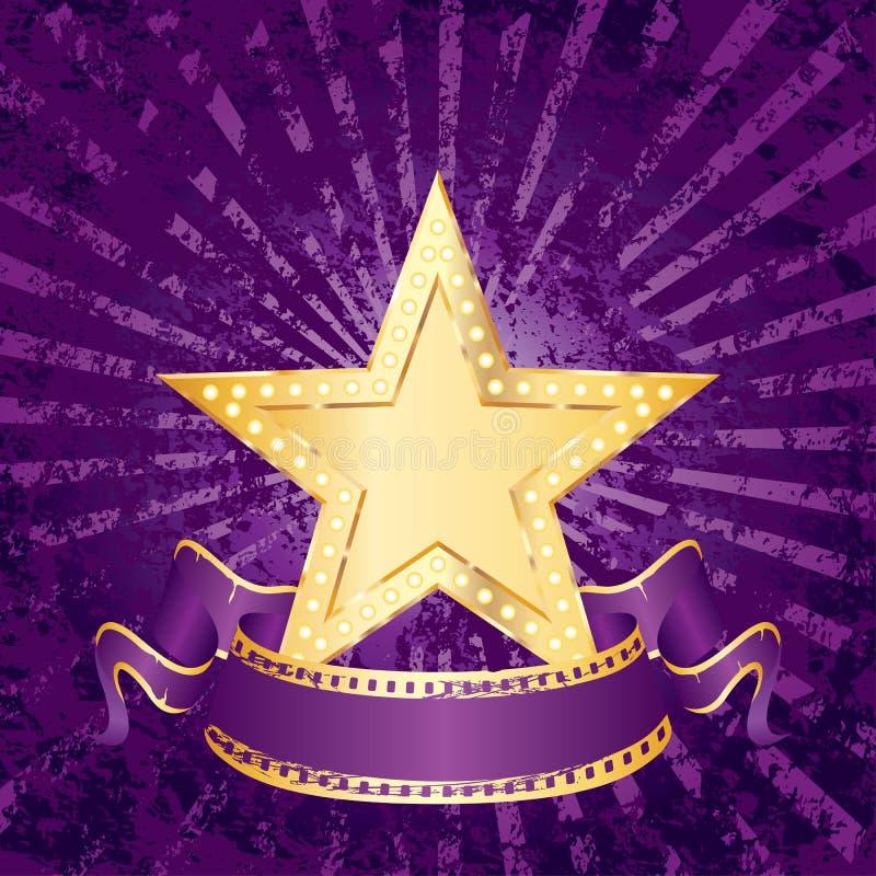 Purple grunge rays vector illustration