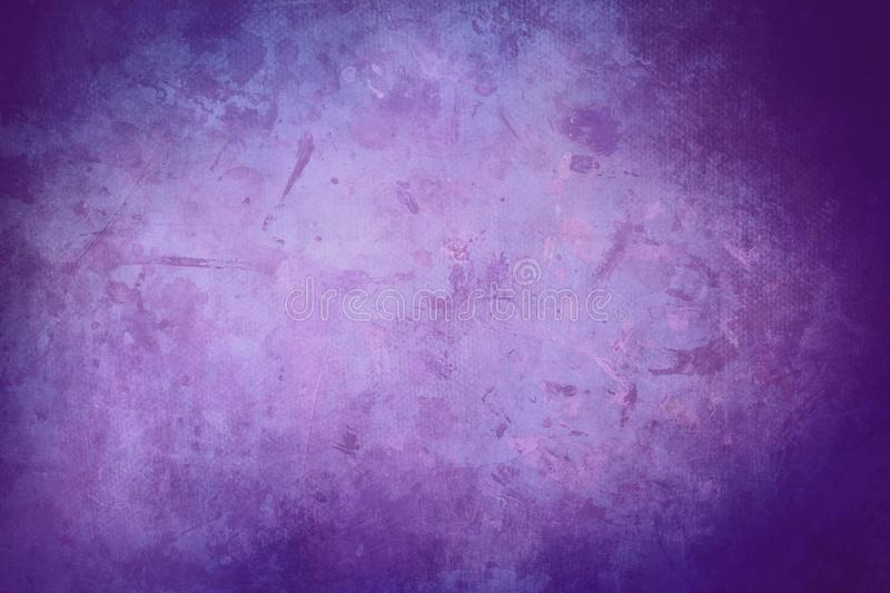 Purple grungy canvas background or texture stock photography
