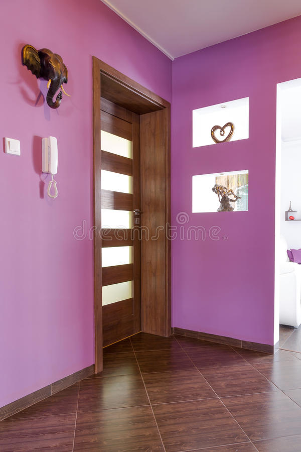 Download Purple Hall Interior In The Apartment Stock Photo - Image: 29536490