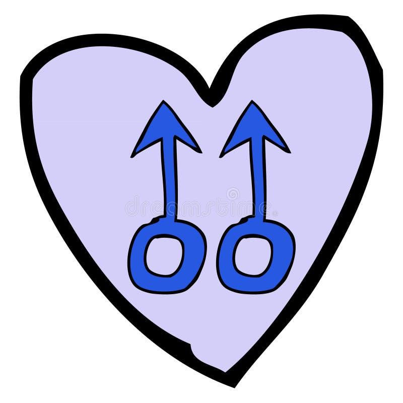Purple Heart stock illustratie