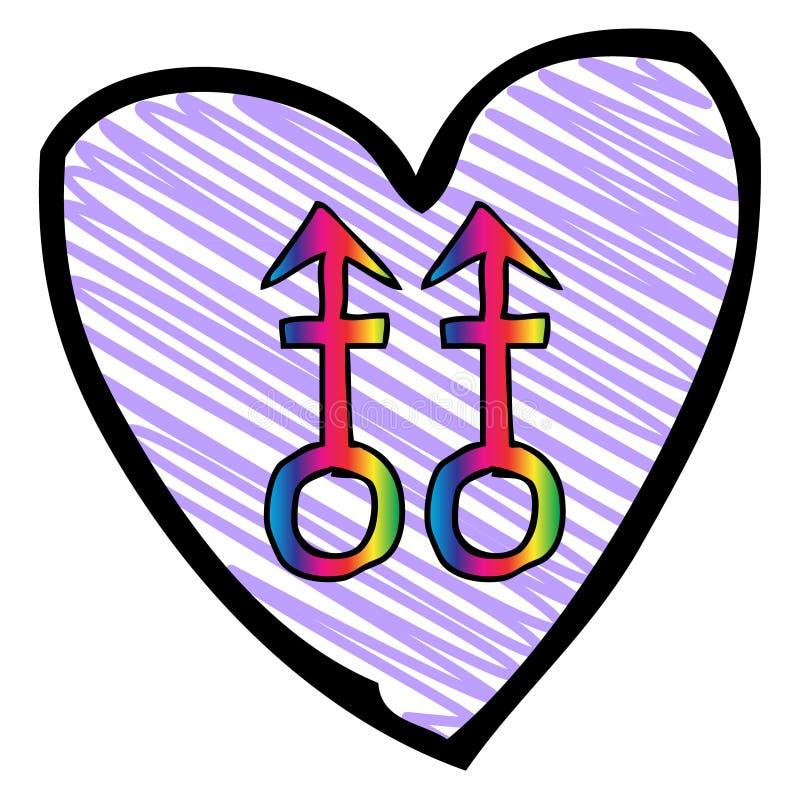 Purple Heart vector illustratie