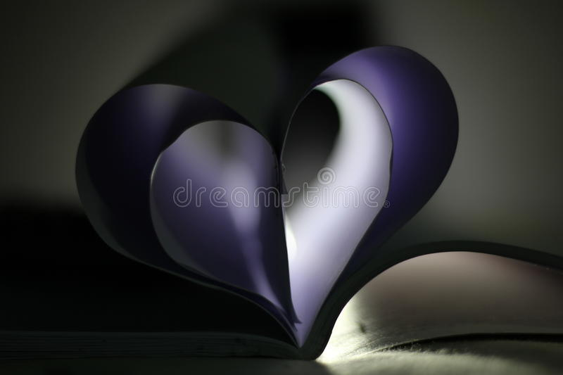 Purple heart royalty free stock image
