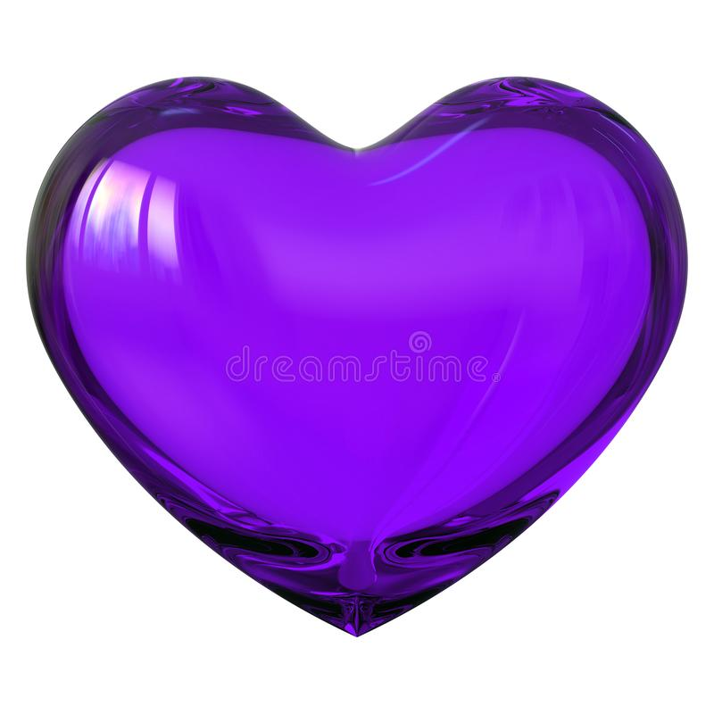 Free Purple Heart Shape Love Symbol Glass Translucent Glossy Stock Photo - 153948700