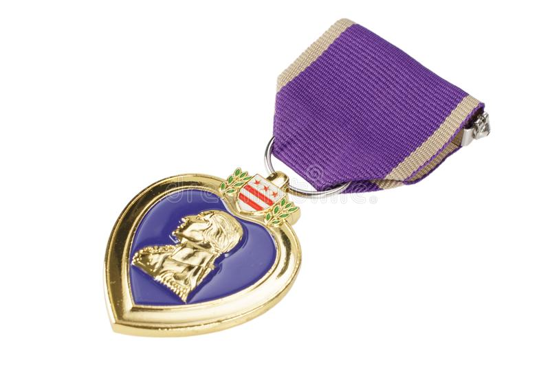 The Purple Heart United States military decoration. The Purple Heart - United States military decoration royalty free stock photo