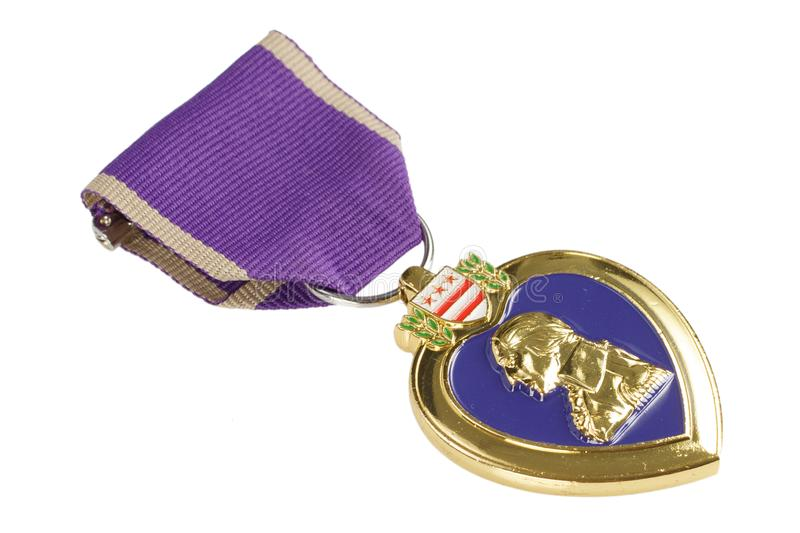 The Purple Heart United States military decoration. The Purple Heart - United States military decoration royalty free stock photos