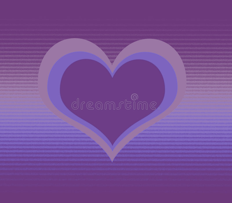 Purple Hearts. Abstract illustration of purple hearts stock illustration