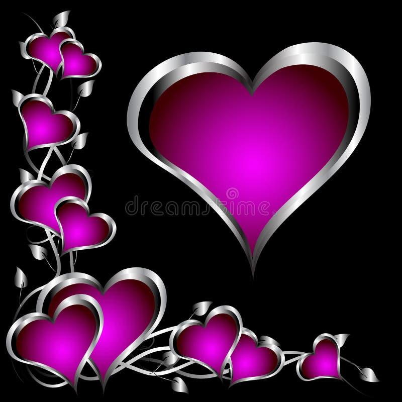 purple hearts valentines day background 17216287