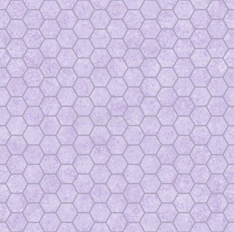 Purple Honey Comb Shape Fabric Background stock photography