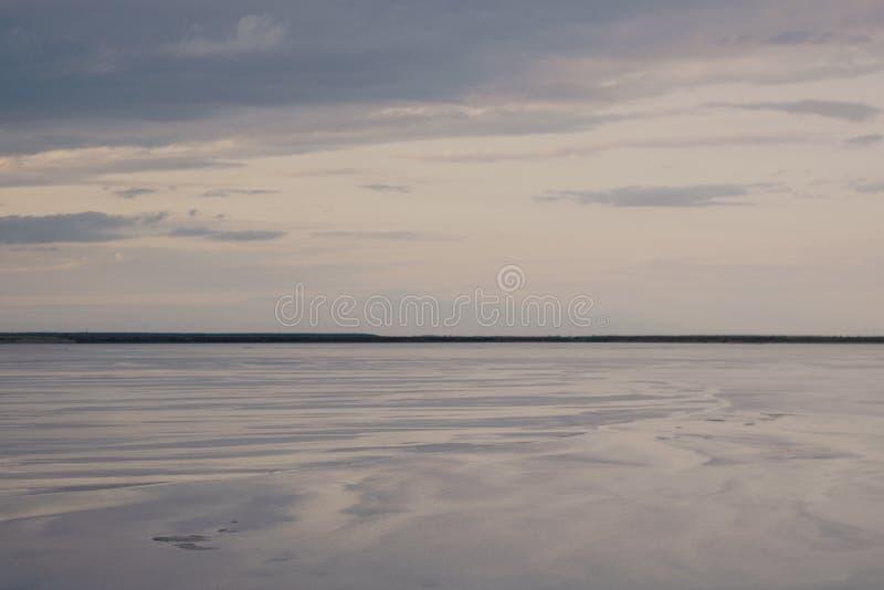 Purple horizon royalty free stock photo
