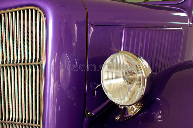 Download Purple Hot Rod stock image. Image of headlight, grill - 20953917