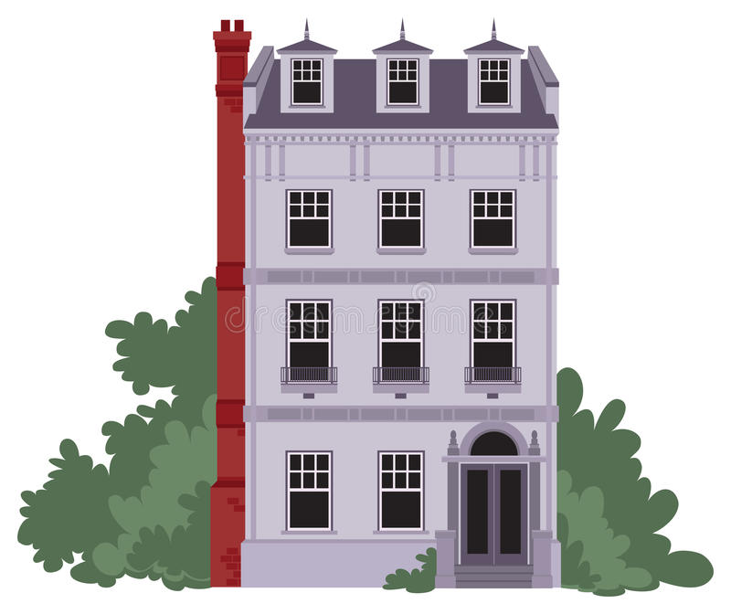 Download Purple House stock illustration. Image of investment - 25293912