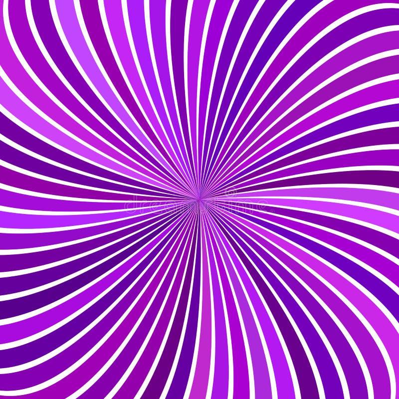 Purple hypnotic abstract spiral ray burst stripe background vector illustration