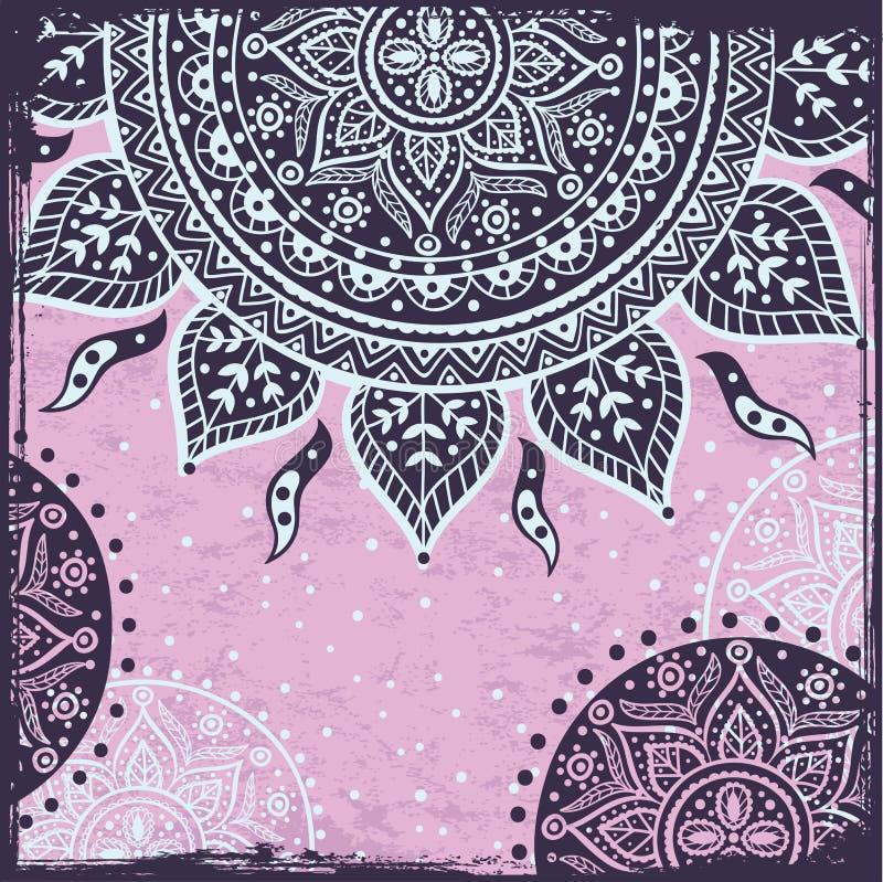 Download Purple Indian sun ornament stock vector. Illustration of festive - 27497373