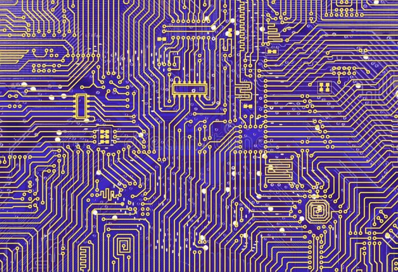 Download Purple Industrial Circuit Board Backdrop Stock Illustration - Image: 12816612