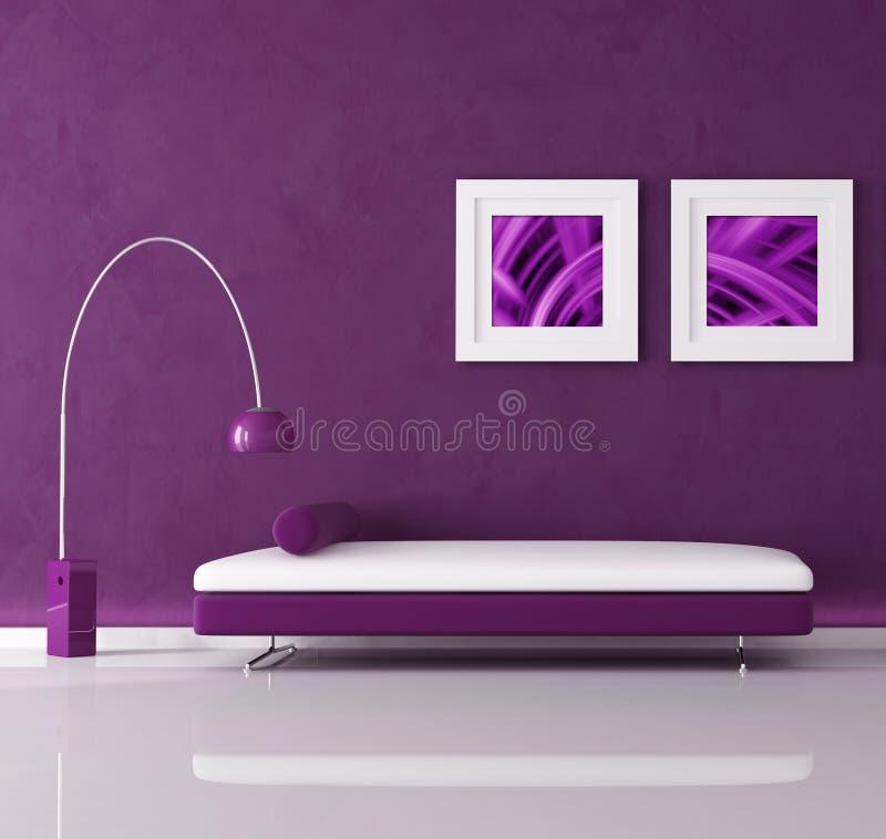 Purple interior royalty free illustration