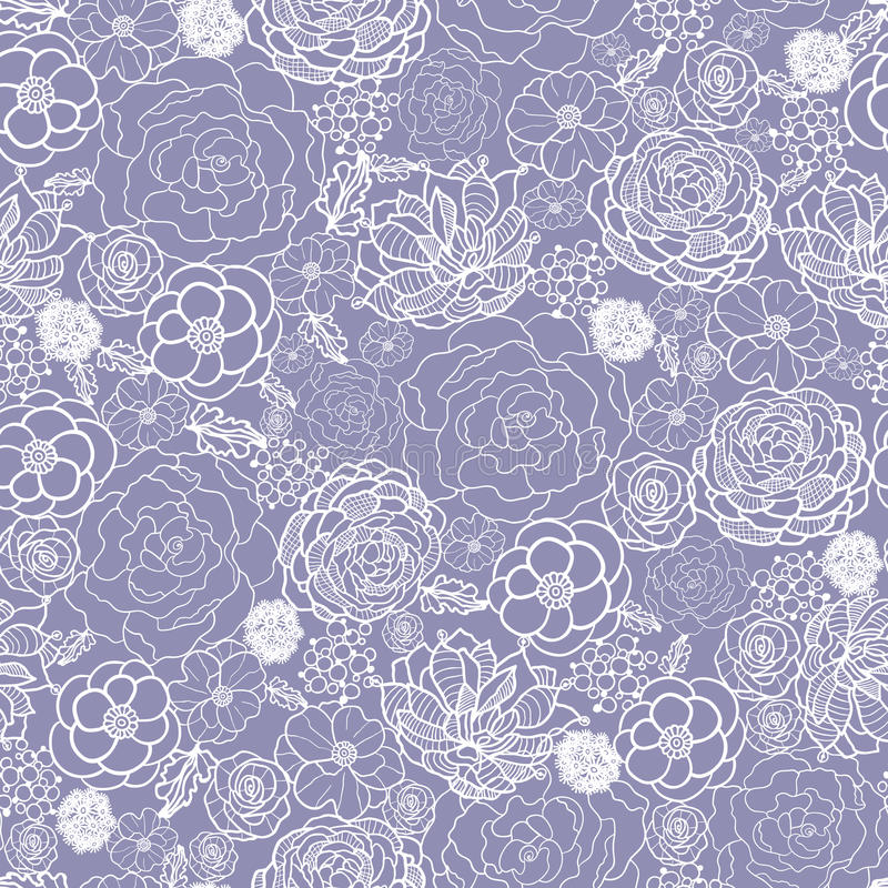 Download Purple Lace Flowers Seamless Pattern Background Stock Vector - Image: 31050895