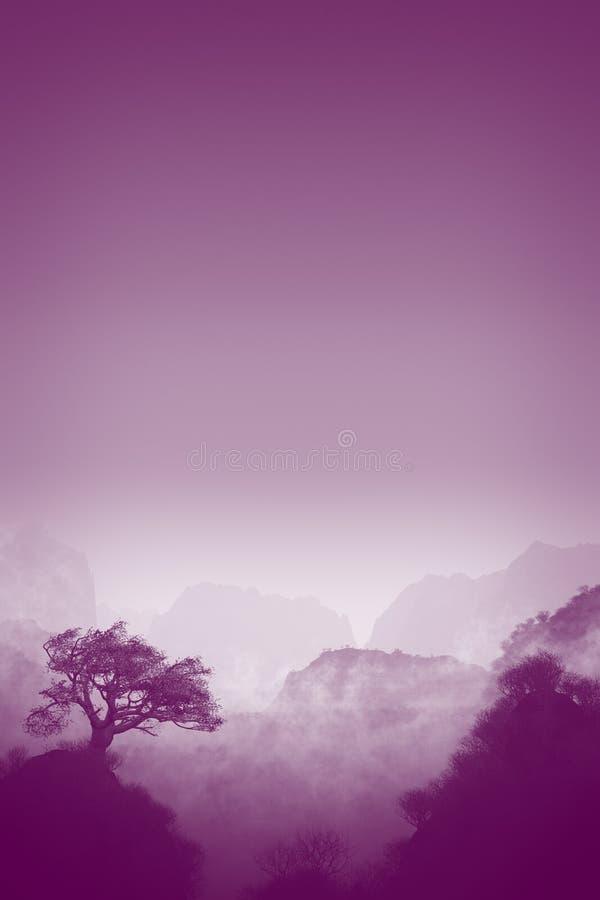 Download Purple landscape stock illustration. Illustration of beauty - 16656914