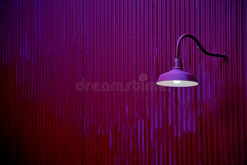 Download Purple Lantern On A Purple Wall Stock Photos - Image: 33714523