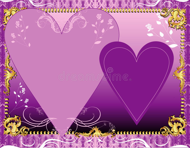 Purple Lavender Template Stock Images