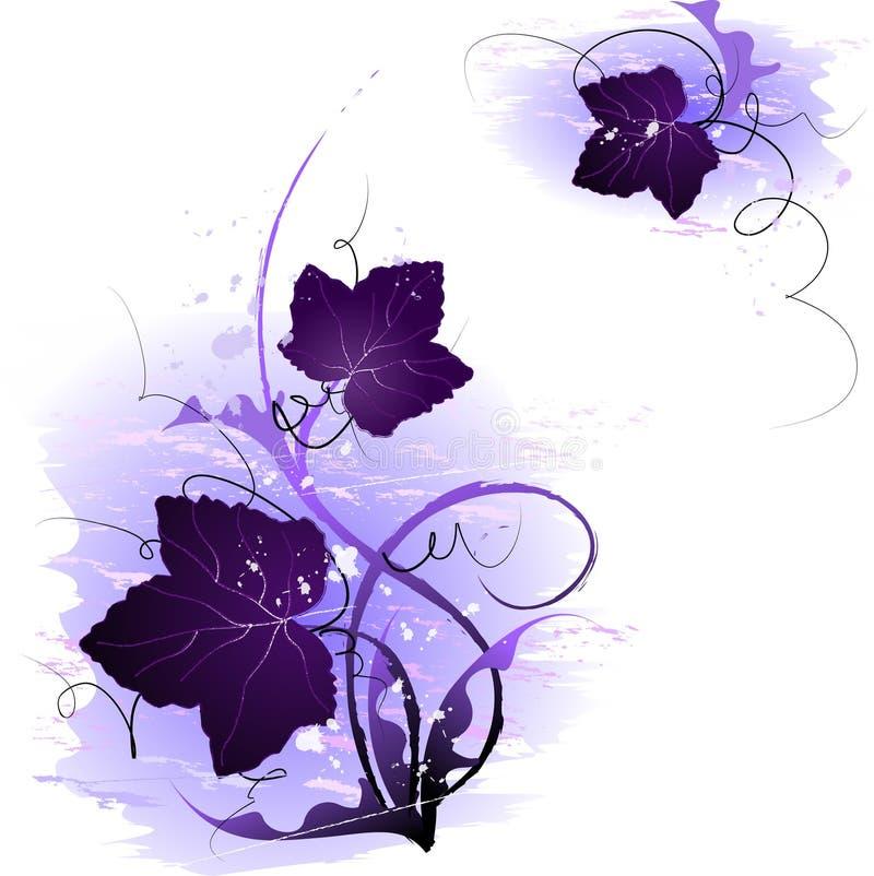 Purple leaf illustrations royalty free stock image