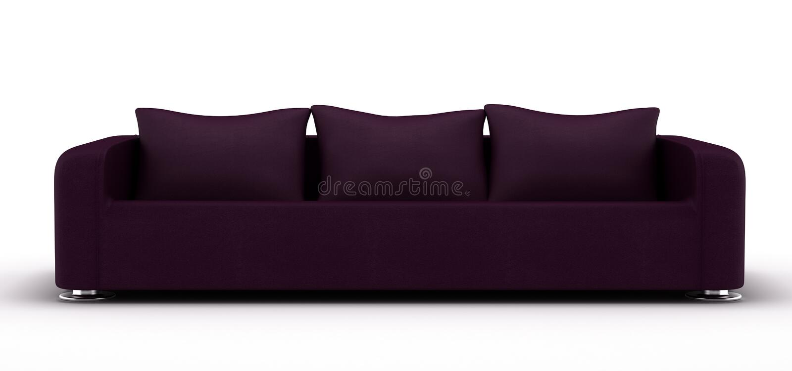 Purple Leather Sofa royalty free stock images