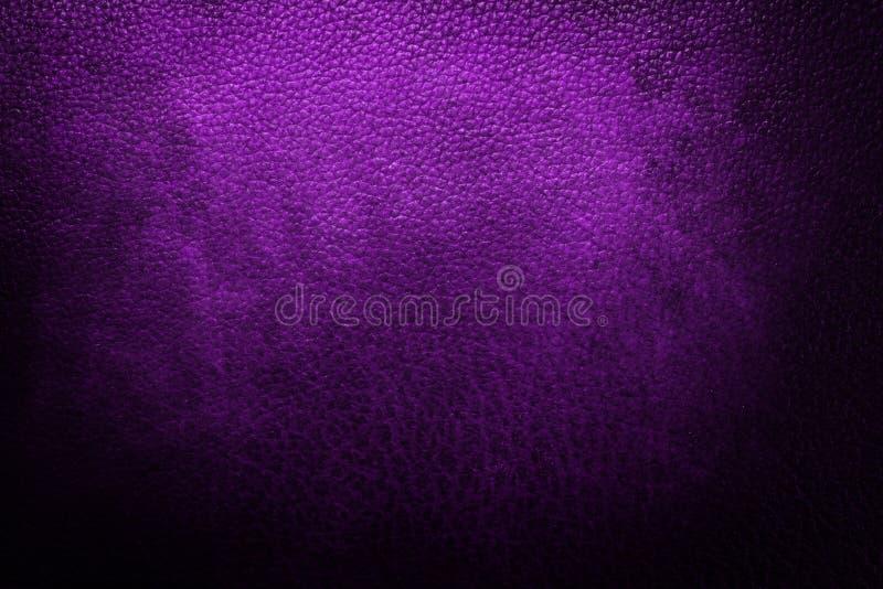 Purple leather texture stock image