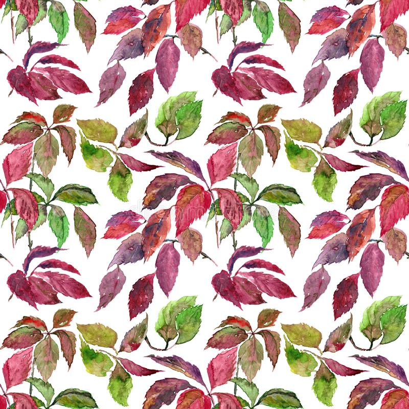 Seamless floral background. Autumn leaves pattern. Textile pattern template. vector illustration