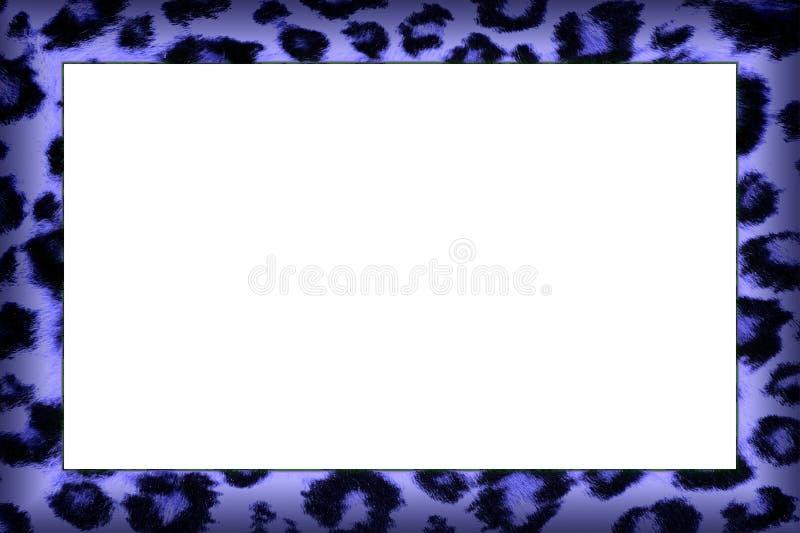 Purple Leopard Print Frame. Purple Coloured Leopard Skin Pattern Frame royalty free stock photo