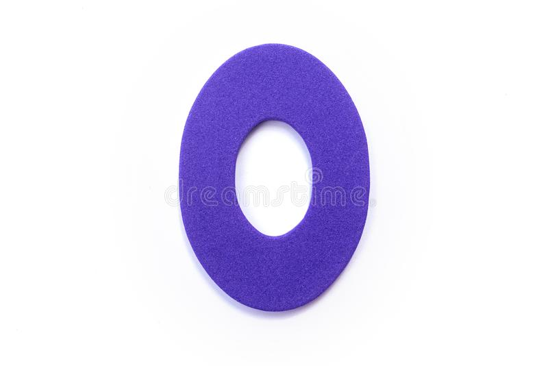 Purple Letter O. Over a white background royalty free stock photos
