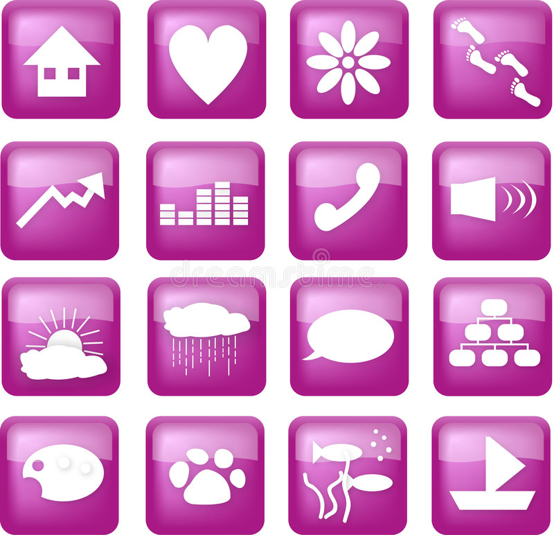 Download Purple lifestyle buttons stock vector. Image of lifestyle - 3436765