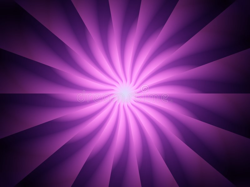 Purple Light Rays Spiral Twirl stock illustration