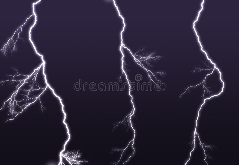 Download Purple Lightning Branched Out In The Sky Stock Illustration - Image: 11632755