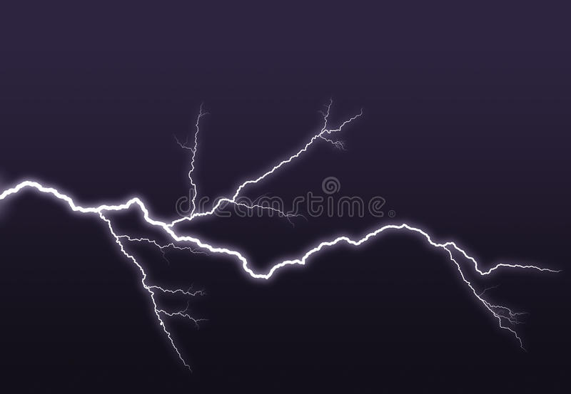 Download Purple Lightning Branched Out In The Sky Stock Illustration - Illustration: 11632762