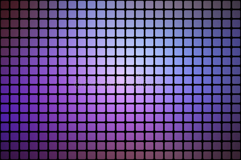 Purple lilac pink abstract rounded mosaic background over black royalty free illustration