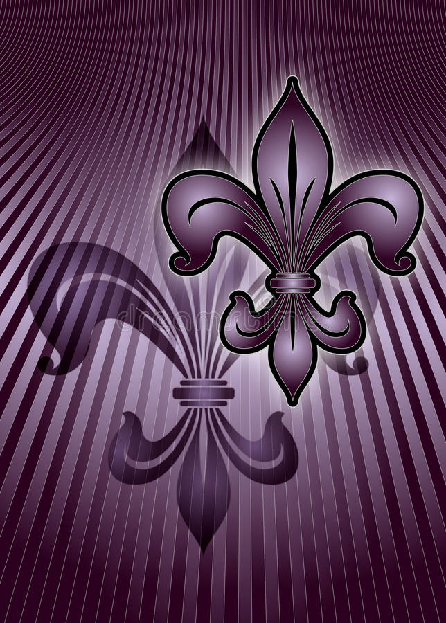 Download Purple lily stock illustration. Image of flower, decoration - 14333044