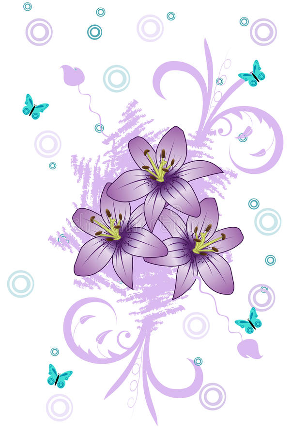 Free Purple Lily Royalty Free Stock Images - 9694339