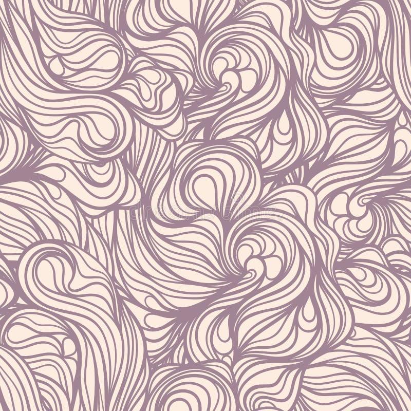 Purple line swirls vector illustration