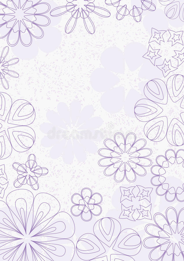 Free Purple Lines Flowers Grunge Background Royalty Free Stock Photography - 19311647